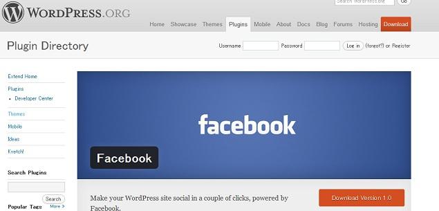 WordPressのFacebook公式プラグインを入れてみた。